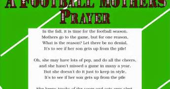 Football prayer poem a football mother s prayer poem free printable