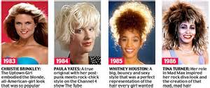 hairstyles in 1983 beyond the fringe from the purdey to the rachel 50 years
