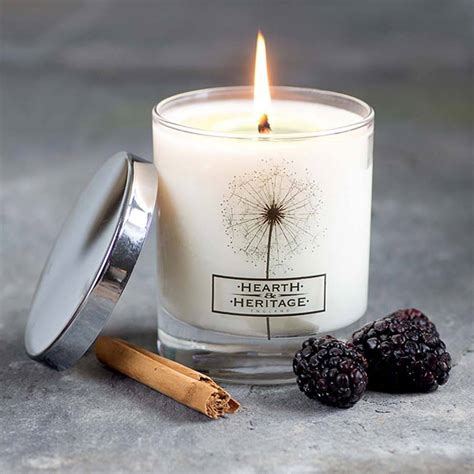 Scented Candles Spiced Mulberry Scented Candle By Hearth Heritage