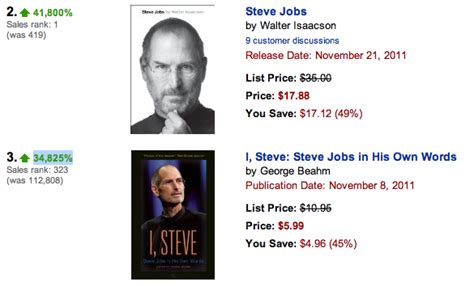biography bottle steve jobs preorders of steve jobs biography jump 41 800 on amazon com