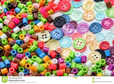 bead and button n buttons stock image image of many colorful