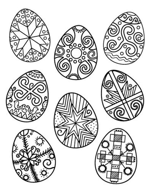 pysanky egg coloring page printable ukrainian easter egg coloring page free pdf
