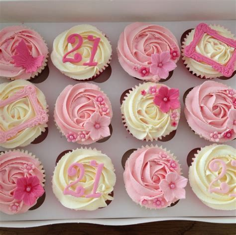 Home Decorator Website by Girly 21st Birthday Cupcakes
