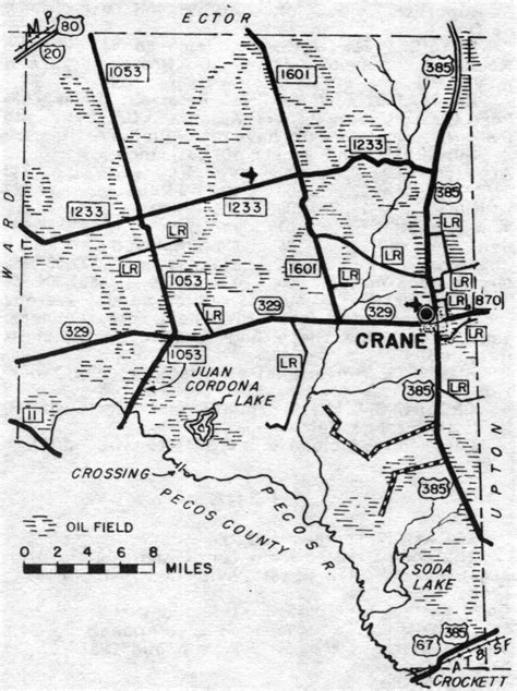 crane texas map crane county texas genealogy census vital records