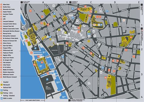 printable map liverpool city centre liverpool tourist attractions map