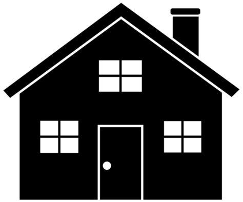 black house silhouette  clip art