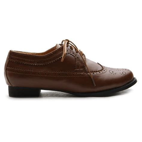 womens dress oxford shoes ollio s shoe lace up low heels wingtip dress oxford