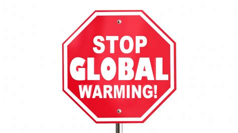 stop global warming sign climate change environment 3 d