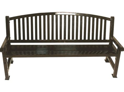 6 foot bench 6 foot outdoor savannah bench with bow back upb 9226