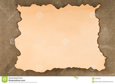 How To Make Burnt Paper - paper with burn edges on canvas stock images image 12918904