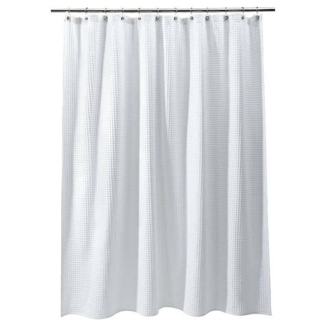 target ruffle shower curtain threshold waffle weave shower curtain white bathroom