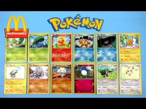 Mcdonals Gift Card - 2015 mcdonald s pokemon set of 12 trading cards game tcg happy meal toys oras video