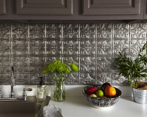 faux tin kitchen backsplash diy kitchen backsplash ideas