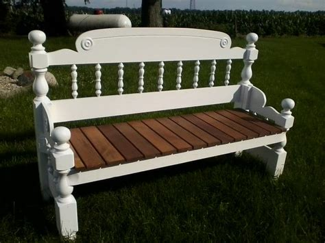 How To Make A Headboard And Footboard by Handmade Repurposed Headboard Footboard Bench Re