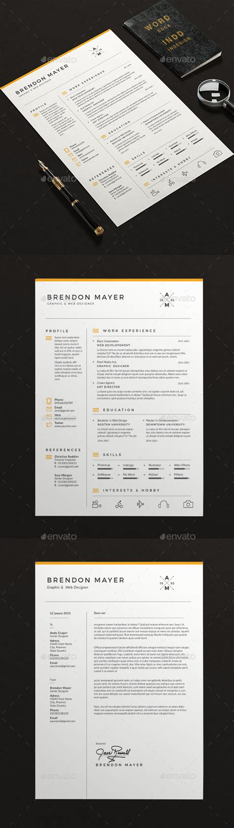 clean resume word by sz81 graphicriver