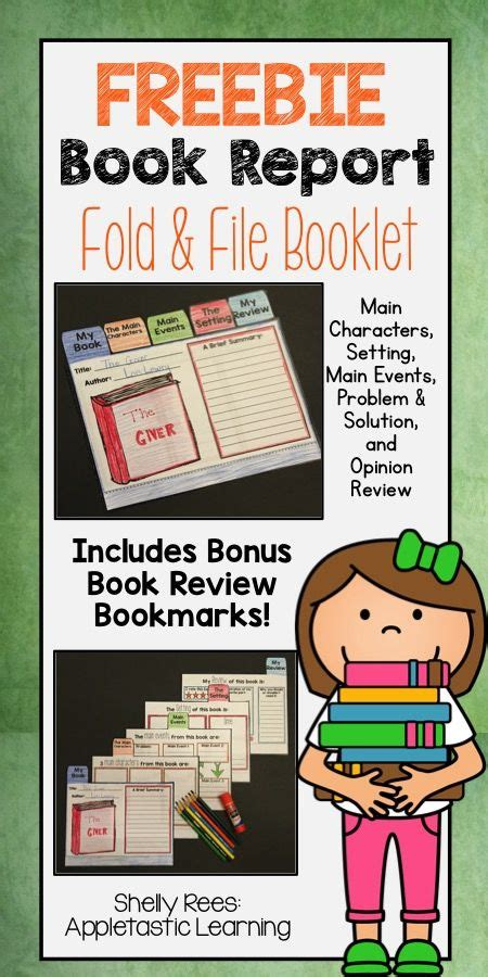 flip book report book report ideas are complete with this free book report