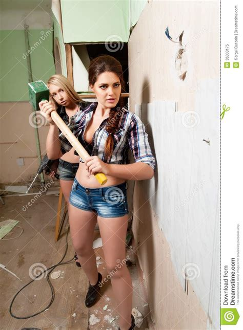 attractive with tools stock image image 36003175