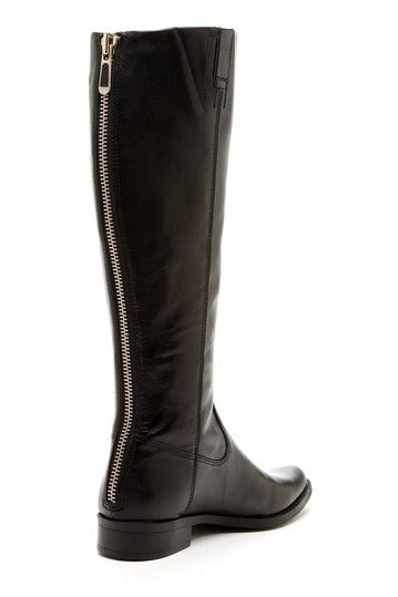 black boots with back zipper dress up begins at