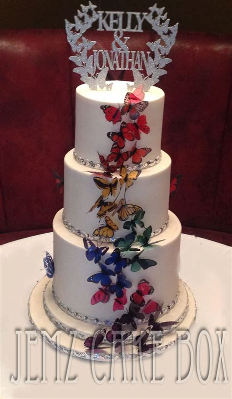 Butterfly Wedding Cake by 3 Tier Butterfly Wedding Cake Jemz Cake Box