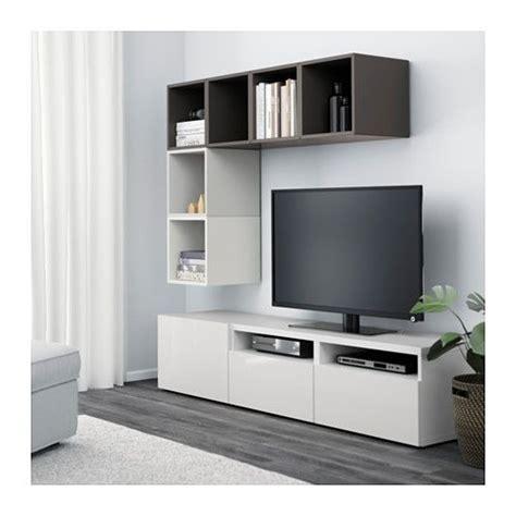 besta eket best 197 eket combinaison rangement tv blanc brun noir