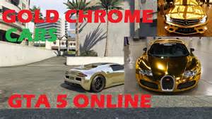 gta 5 get gold chrome color on any car