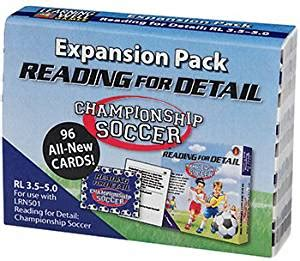 buy edupress expansion pack reading for detail chionship soccer w lrn5026 at low