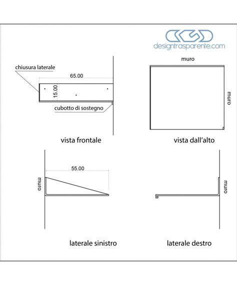 Mensole In Plexiglass Su Misura Mensola Su Misura 65x55 In Plexiglass Trasparente