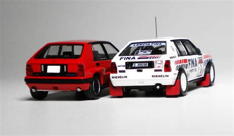 1 64 Kyosho Fiat Lanica Minicar Collection Fiat Coupe Yellow Die Cast tlv lancia delta
