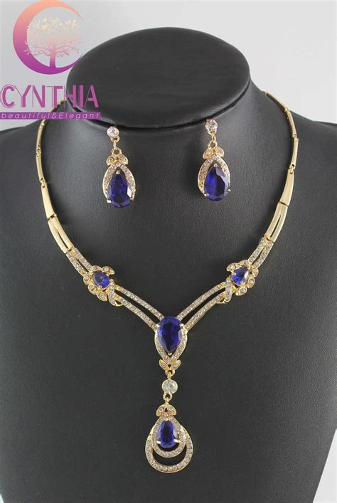 blue sapphire topaz yellow gold plated