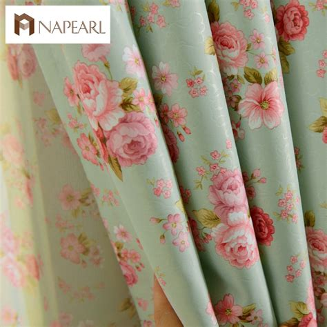floral design curtains short window curtains for bedroom window treatments