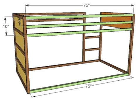Fort Bunk Bed Plans Diy Wood Design Ideas Woodworking Project Sketchup