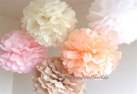 medium sized pomeranian 50 high quality medium size tissue pom poms pastel decorations wedding baby
