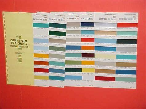 1969 chevrolet colors 1969 chevrolet dodge ford truck paint chips color chart auto paint