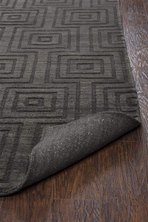 10 x 14 charcoal wool rug uptown faded concentric squares wool area rug in charcoal