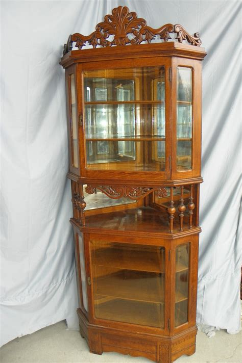 antique corner china cabinet furniture bargain john s antiques 187 blog archive antique oak corner
