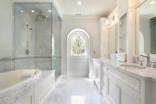 contemporary master bathroom with rain shower head by home