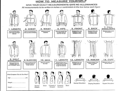 Suit Measurements Template Templates Station Suit Measurements Template