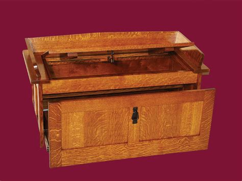 shoe chest bench amish furniture oak toy storage bench hall seating mission