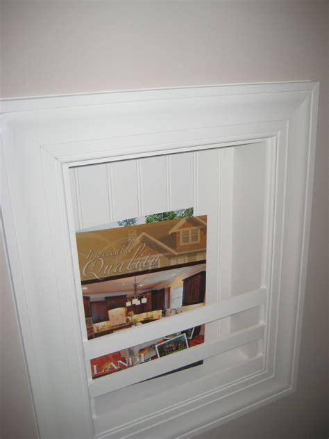 magazine rack in bathroom homeowners love this built in magazine rack in the