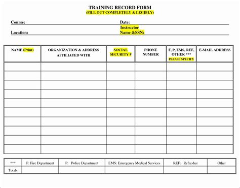 record template in excel 50 excel spreadsheet to track employee