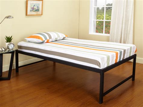 High Frame Bed B39 Series 39 Size Black Steel High Riser Day Bed Frame Pop Up Trundle