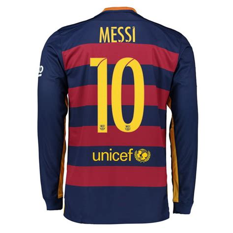 cheap 16 17 barcelona authentic lionel messi home jersey