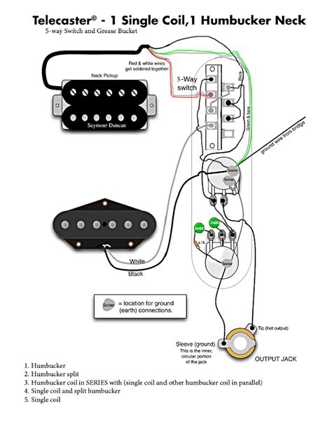 tele w humbucker in neck regular 5 way switch and