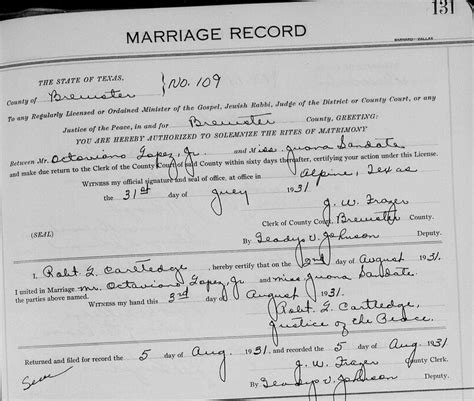 Stockton Marriage Records Ol Documents Before The Ruins