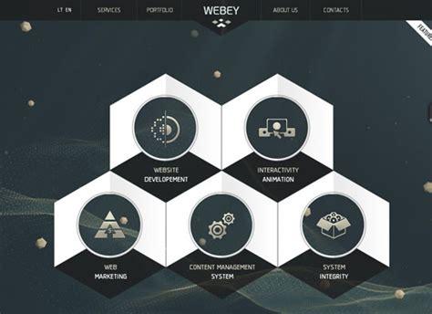Showcase Of Websites Using Hexagons Designbeep Hexagon Website Template