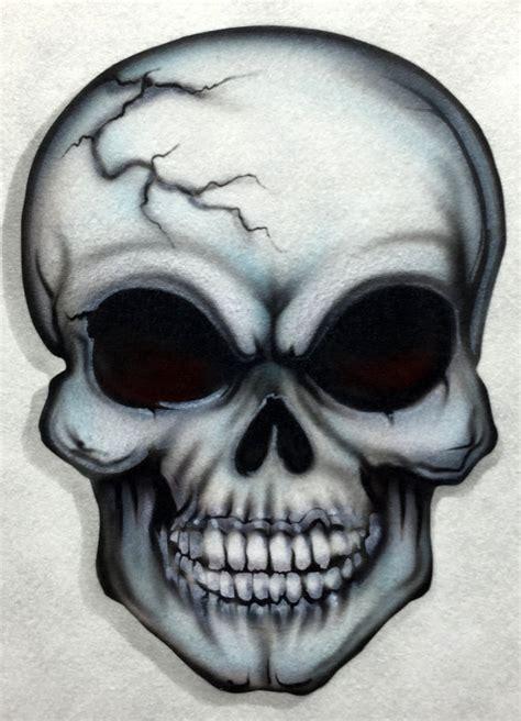 skull 12 airbrush stencil