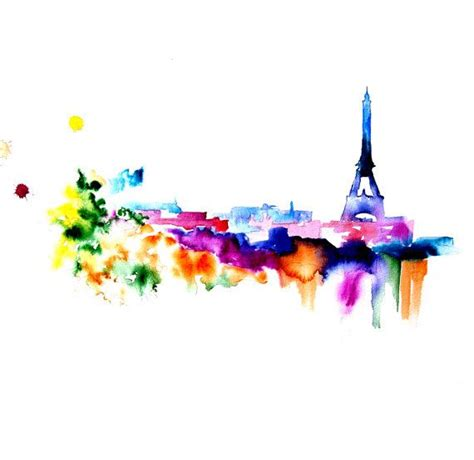 watercolor tattoos paris best 20 painting ideas on eiffel tower