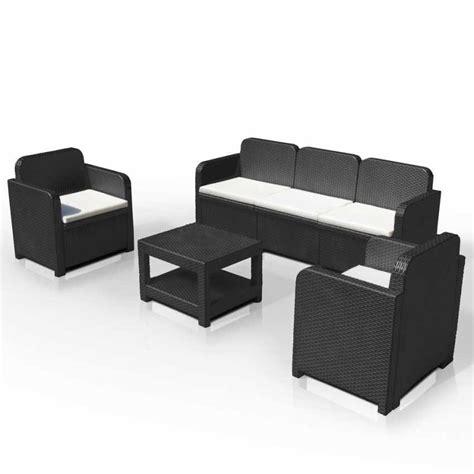 divano esterno rattan salotto da giardino in polyrattan con divano poltrone e