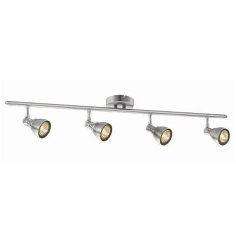 hton bay 34 7 8 in 4 light brushed nickel fixed track
