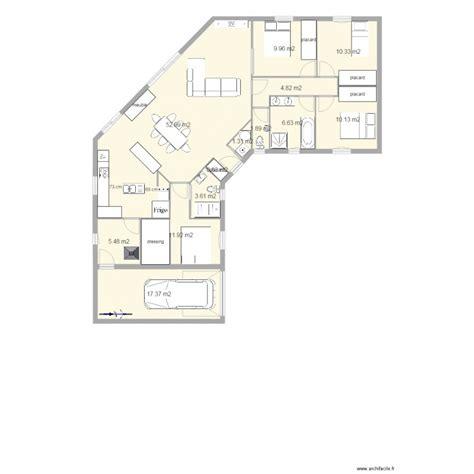 plan maison 3 chambres 1 bureau maison plein pied u 3 chambres 1 bureau plan 13 pi 232 ces